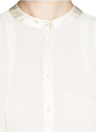 Detail View - Click To Enlarge - Elizabeth and James - 'Lynde' satin collar chiffon blouse