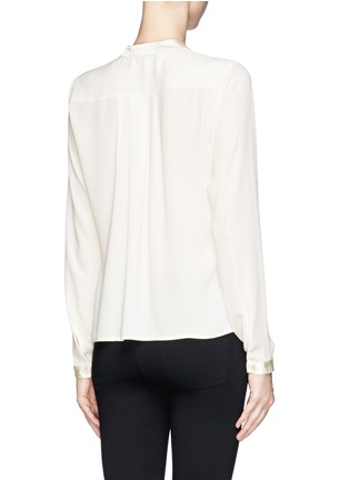 Back View - Click To Enlarge - Elizabeth and James - 'Lynde' satin collar chiffon blouse