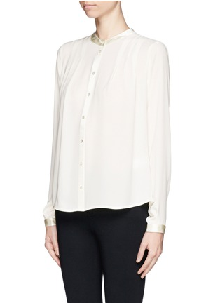 Front View - Click To Enlarge - Elizabeth and James - 'Lynde' satin collar chiffon blouse