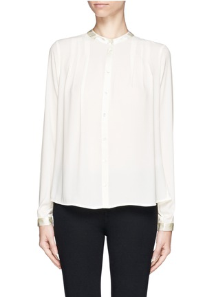 Main View - Click To Enlarge - Elizabeth and James - 'Lynde' satin collar chiffon blouse