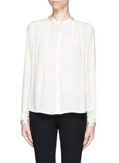 ELIZABETH AND JAMES 'Lynde' satin collar chiffon blouse