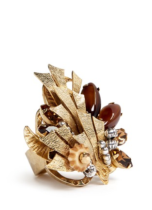 Detail View - Click To Enlarge - Miriam Haskell - Couture flower motif ring