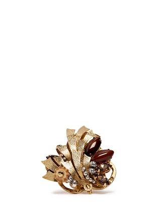 Main View - Click To Enlarge - Miriam Haskell - Couture flower motif ring