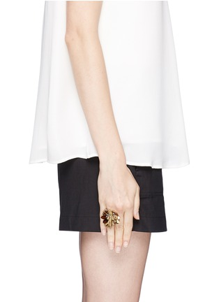 Figure View - Click To Enlarge - Miriam Haskell - Couture flower motif ring