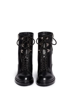 SERGIO ROSSI Stud leather biker boots