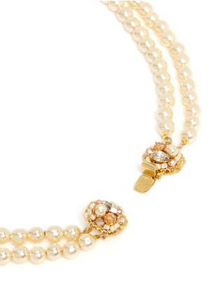 Detail View - Click To Enlarge - Miriam Haskell - Two-strand pearl necklace