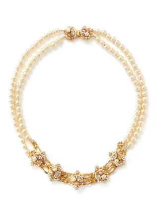 Main View - Click To Enlarge - Miriam Haskell - Two-strand pearl necklace