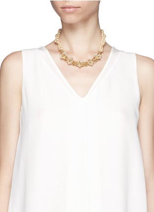 Figure View - Click To Enlarge - Miriam Haskell - Two-strand pearl necklace
