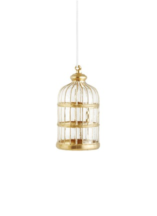 Main View - Click To Enlarge - Shishi As - Glass Bird Cage Christmas ornament