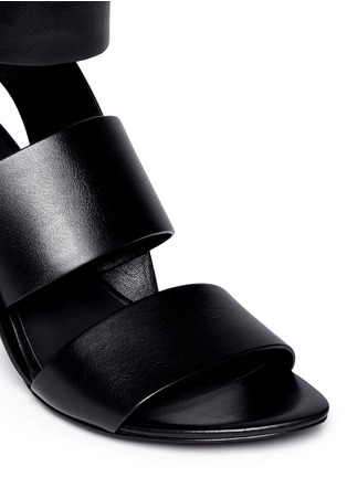 Detail View - Click To Enlarge - Alexander Wang  - 'Katya' double band leather sandals