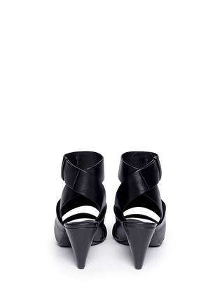 Back View - Click To Enlarge - Alexander Wang  - 'Katya' double band leather sandals