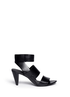 ALEXANDER WANG  'Katya' double band leather sandals