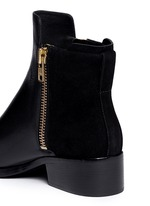 'Alexa' leather and suede ankle boots