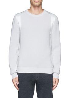 LANVINSatin panel wool sweater