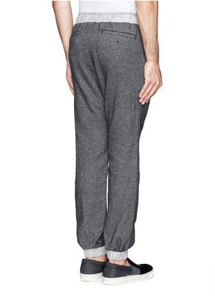 Sacai-Contrast waistline drawstrong jogging pants