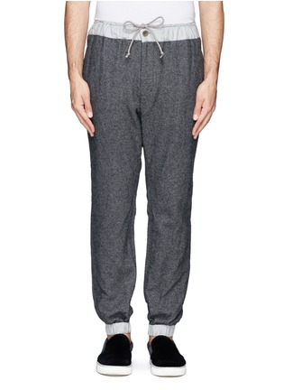 Main View - Click To Enlarge - Sacai - Contrast waistline drawstrong jogging pants