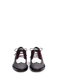 ALEXANDER WANG  'Nathan' texture block brogue Derbies