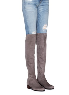 Stuart Weitzman 'All Serve' stretch suede thigh high boots