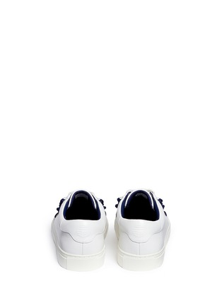 Back View - Click To Enlarge - Tory Burch - Tory Sport ruffled leather sneakers