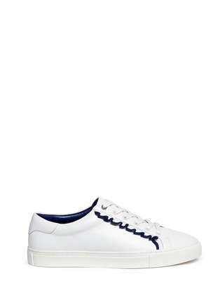 Main View - Click To Enlarge - Tory Burch - Tory Sport ruffled leather sneakers
