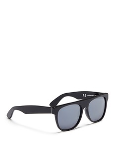 SUPER 'Flat Top' D-Frame opaque mirror sunglasses
