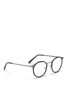 SUPER'Numero 20' acetate rim round wire optical glasses