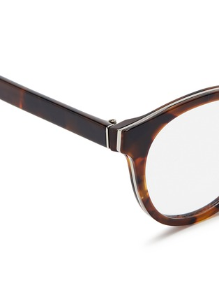 Detail View - Click To Enlarge - SUPER - 'Numero 22' round tortoiseshell acetate optical glasses