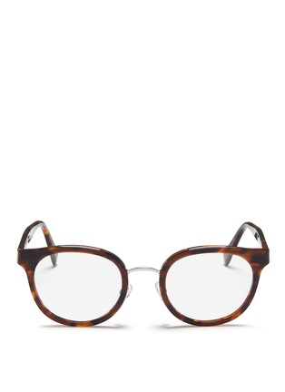 Main View - Click To Enlarge - SUPER - 'Numero 22' round tortoiseshell acetate optical glasses