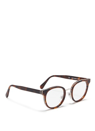 Figure View - Click To Enlarge - SUPER - 'Numero 22' round tortoiseshell acetate optical glasses