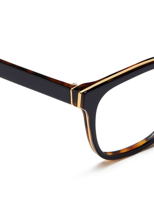 Detail View - Click To Enlarge - SUPER - 'Numero 23' contrast tortoiseshell acetate optical glasses