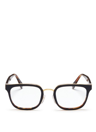 Main View - Click To Enlarge - SUPER - 'Numero 23' contrast tortoiseshell acetate optical glasses