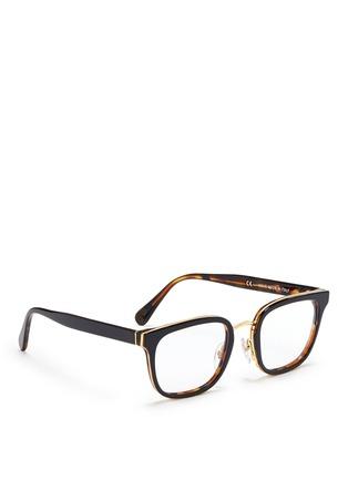 Figure View - Click To Enlarge - SUPER - 'Numero 23' contrast tortoiseshell acetate optical glasses