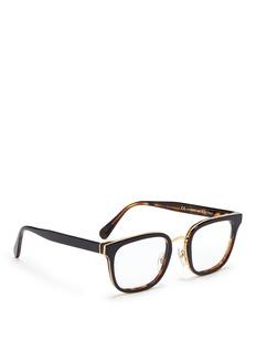 SUPER'Numero 23' contrast tortoiseshell acetate optical glasses