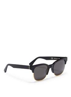SUPER 'Lele' wire rim D-frame acetate sunglasses