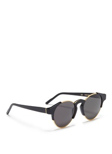 SUPER 'Arca' metal rim round acetate sunglasses