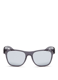 SUPER'Duo-Lens Classic' rimless all lens D-frame mirror sunglasses