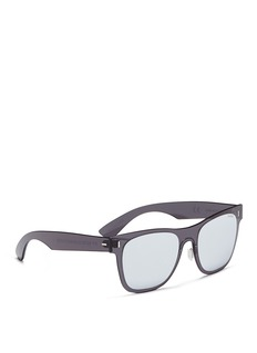 SUPER 'Duo-Lens Classic' rimless all lens D-frame mirror sunglasses