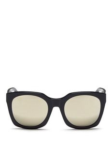 SUPER 'Quadra' square acetate mirror sunglasses