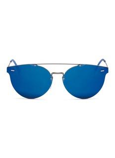 SUPER'Tuttolente Giaguaro' rimless round mirror sunglasses