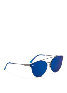 SUPER 'Tuttolente Giaguaro' rimless round mirror sunglasses