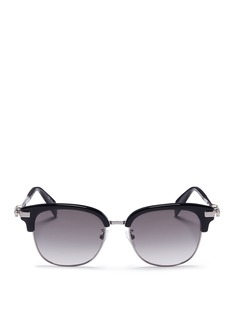 Alexander McQueen Acetate brow bar sunglasses