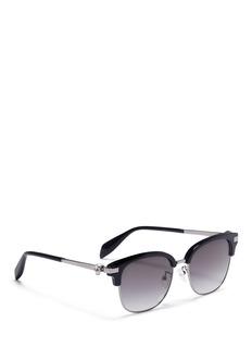 Alexander McQueenAcetate brow bar sunglasses