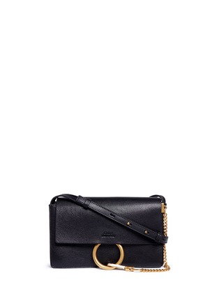 Main View - Click To Enlarge - Chloé - 'Faye' small goatskin leather shoulder bag
