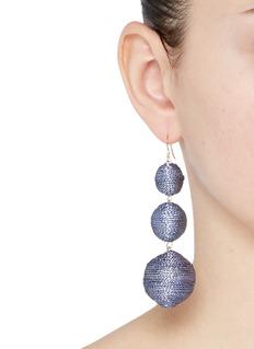 Kenneth Jay Lane Graduating threaded sphere drop earrings