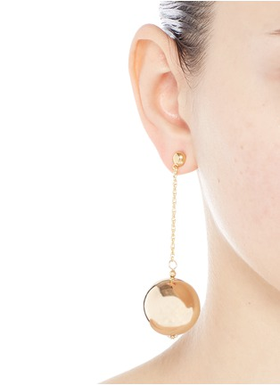 Figure View - Click To Enlarge - Kenneth Jay Lane - Gold plated sphere drop earrings