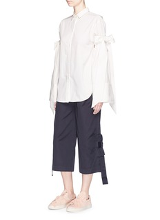 Shushu/TongBow sleeve cotton poplin shirt