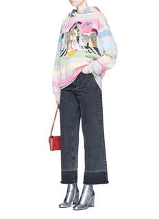 Marc JacobsCity appliqué stripe oversized hoodie
