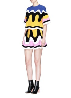 Emilio Pucci Wavy panelled flared jersey skirt
