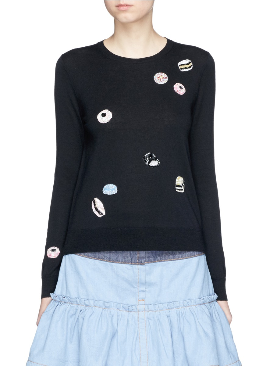 marc jacobs female sequin candy wool sweater
