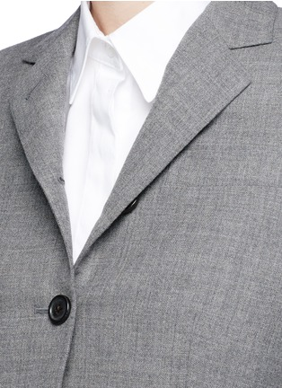 Detail View - Click To Enlarge - Thom Browne - Wool cropped classic blazer